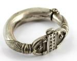 Solid silver Rajasthan India hinged bangle