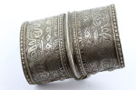 Solid silver OLOMI Turkoman Afghanistan collectible cuff