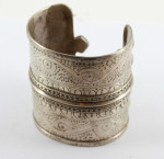 Solid silver OLOMI Afghanistan Turkmen (One of a Pair) cuff #3