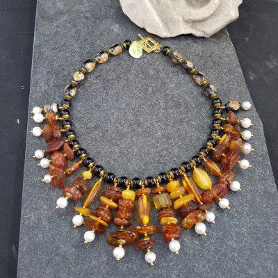 Baltic Amber Bib Necklace
