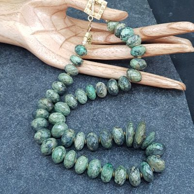 Faceted Natural Turquoise Necklace