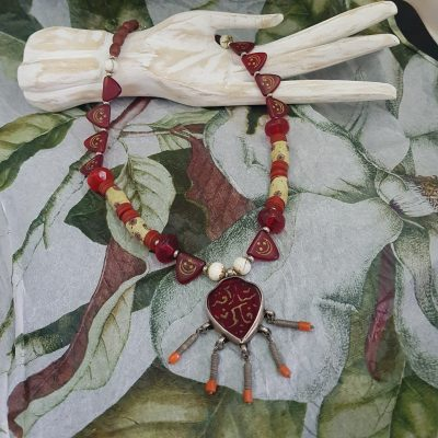 Venetian Trade Beads Afghan Necklace