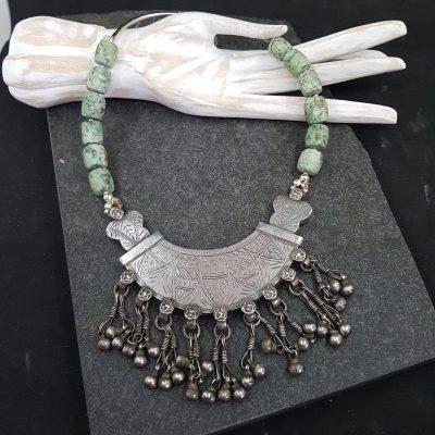 Moroccan Tuareg Turquoise Necklace