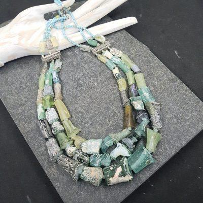 Roman glass 3 strand