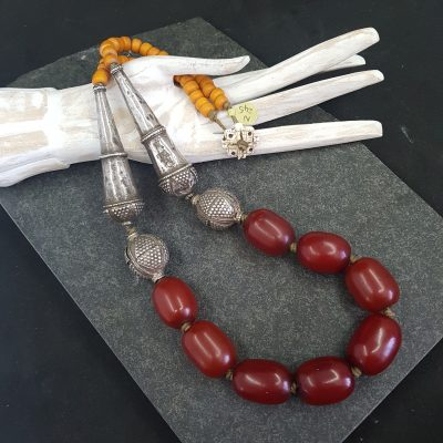 Yemen Silver Amber Necklace