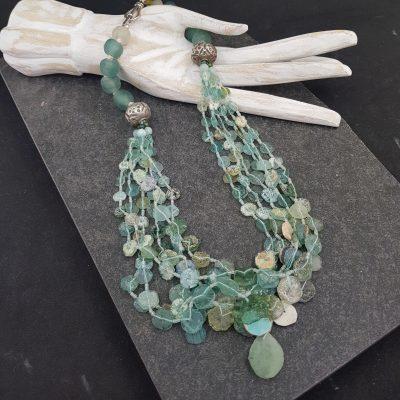 Roman Glass Fragments Necklace