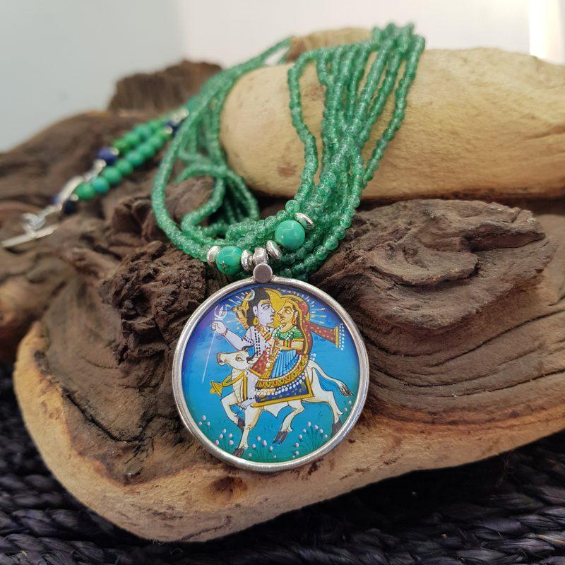 Indian Miniature Pendant Necklace