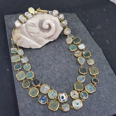 Roman Glass Double Necklace