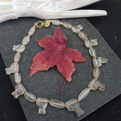 Ancient Himalayan cat necklace