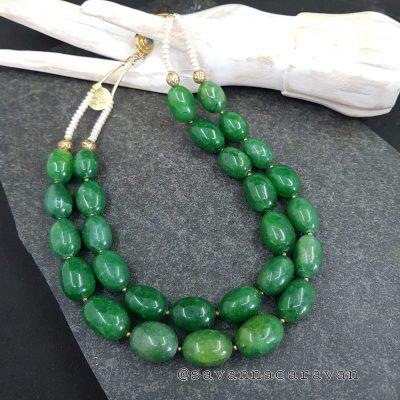 Doublee Green Beryl Necklace